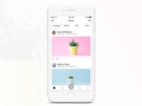 Plant App Home Screen