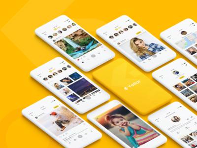 Yellar Social App social ui social app trend iphone interaction ios app uiux ux ui mobile app user experience ios ios design