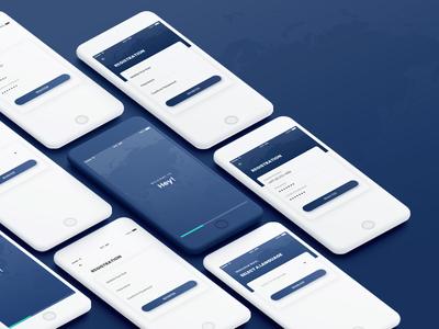 Registration UI design ios app ios design ios ux ui  ux ui ux design ui trend registration register mobile aap iphone interaction