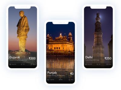 Travel App travel ui travel app travelapp travel design app user experience mobile aap home screen ui  ux design uiux ios design ios app iphone mobile app ios trend ux interaction ui