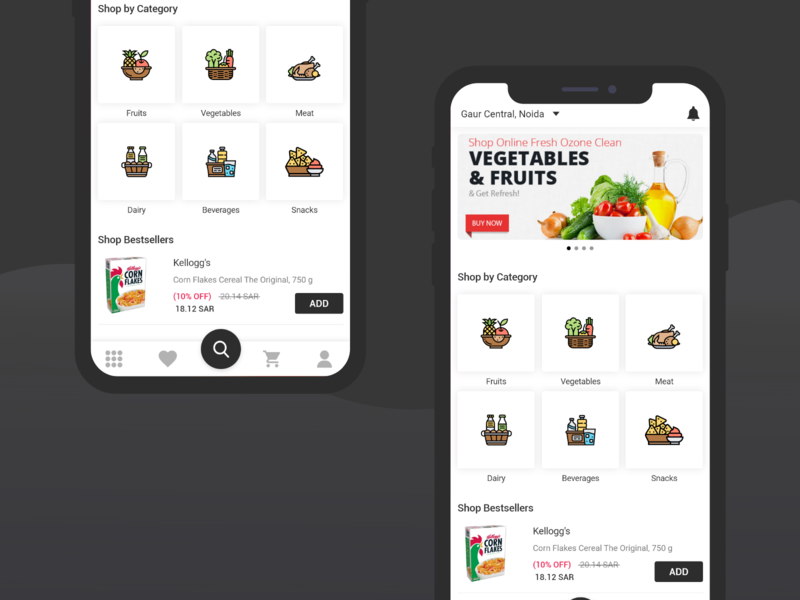 Grocery Home Screen grocery home grocery app grocery design app mobile aap uiux ios app dashboard design user experience home screen ui  ux ios design design ios mobile app iphone trend ux interaction ui