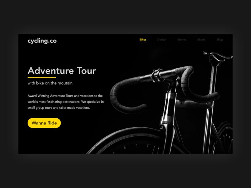 Cycling Web screen design screen main screen interaction uiux design web deisgn web trend ux ui