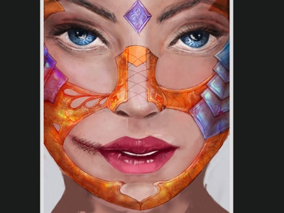 Warrior Woman character design 2d digital art tablet wacom photoshop drawing woman