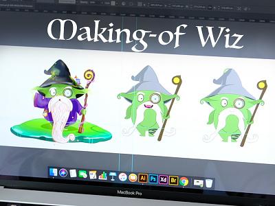 Wizard illustrator wizard app character design