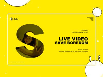 Video chat app promotion website
