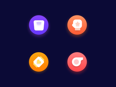 Sports Icon gradient motion keep gym web sport fit logo vector icon illustration app design ui