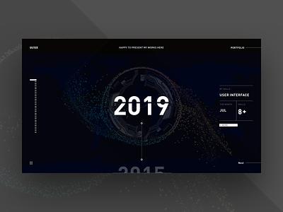 Web page black 2019 dark website web gradient ux design ui