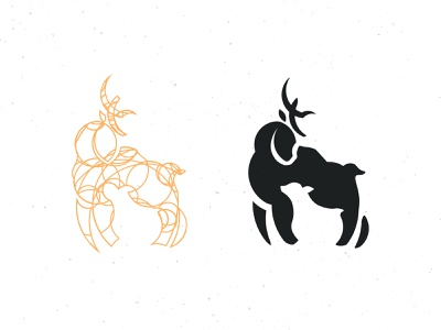 Deer & Doe Logomark & Guide circle logo deer logo logomark vintage negative space logo negative space goldenratio guide sketch sketchapp adobe illustrator doe deer minimal icon branding logo vector design