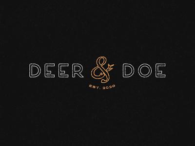 Deer & Doe Vintage Typography brand identity font retro font illustrator grain texture distressed doe deer vintage type vintage typography retro vintage design vintage font vintage logo vintage typography branding logo vector design