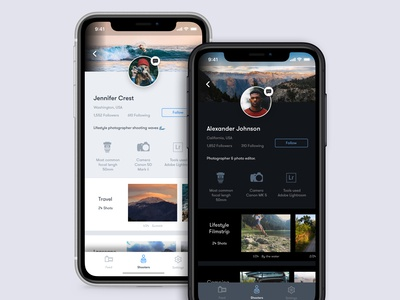 Daily UI 006 User Profile - Photographer Profile