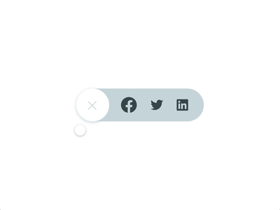 Daily UI 010 Share Button - Animated Share Button prototype animation adobe xd share button share social media social linkedin twitter facebook 010 web dailyui daily ui minimal motion design animation uxui ui ux design