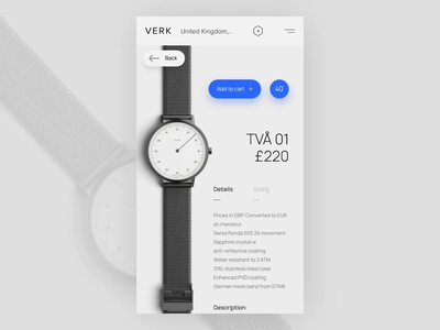Daily UI 012 - Ecommerce Shop Single Item