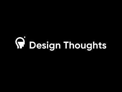 Design Thoughts Logomark with Type brand design brand identity sans serif brainstorm minimalist logo logomark minimal mindfulness thinking thoughts icon typography branding vector logo design