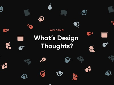 Design Thoughts Confetti Pattern simple patterns brand identity brand design thinking thoughts background design confetti pattern design pattern icon typography branding vector minimal design