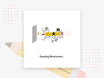 Daily UI 016 Pop-Up/Overlay - Productivity App Launch launch screen desktop app 016 teamwork team productivity overlay popup splash screen app illustration daily ui vector uxui ux ui design