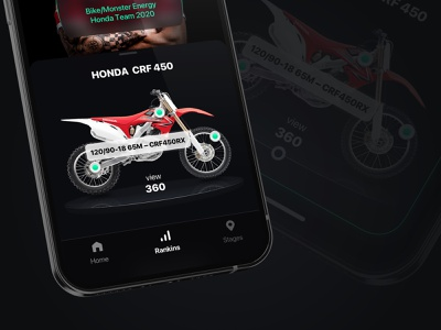 Concept Motobicycle Stages inspiration moto card mobile ui minimal interface
