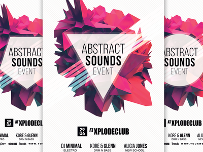 ABSTRACT Psd Flyer Template