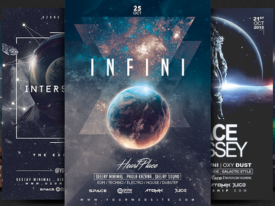 5 Space Flyer Templates