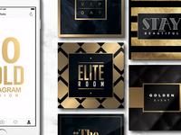 10 INSTAGRAM Design Templates golden luxury classy templates instagramtemplates gold instagram