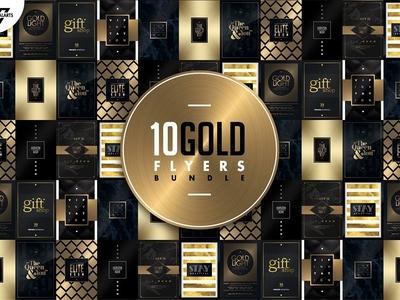 10 GOLD MINIMAL Flyer Templates