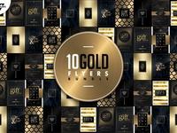 10 GOLD MINIMAL Flyer Templates pack bundle flyer bundle wg visualarts modern shapes minimal chic elegant vip classy golden gold psd psd flyer flyer templates flyer artwork flyer template flyer design flyers