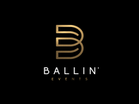 Logo design for BALLIN' Event wgvisualarts branding blue bling vip classy gold inspiration event events graphisme graphiste designer gfx logo design vector illustrator logodesign logos logo