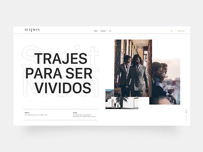 ReDesing of SuitMan Web 💅 website minimal flat branding web design ui ux