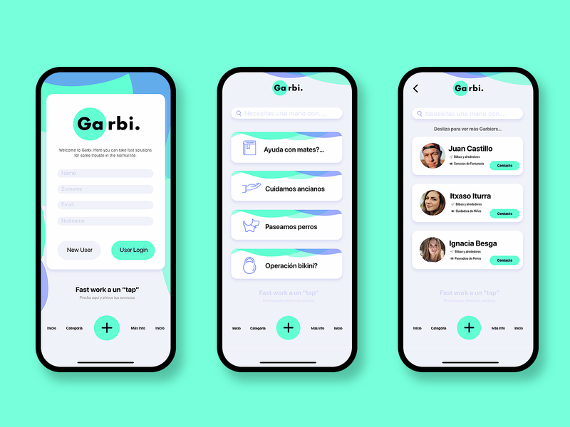 Garbi App 📱 illustration design ui branding ux logo app