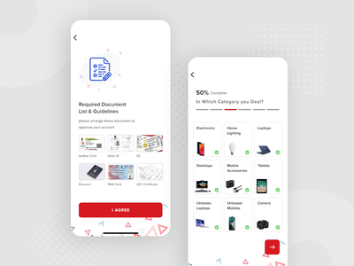 Required Document & Categories deal shopping b2c b2b document guide category app redesign category offer vector app product designer app ui ui ux ui design ux ui design