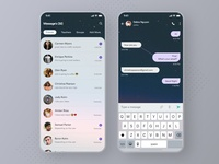 Chat App UI - Freebie Dark and Light freebie xd chatting school telegram whatsapp message product designer app ui ui ui design ui ux desginer design uidesign light dark chatbot freebie chat