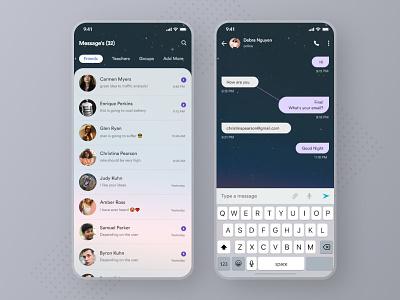 Chat App UI - Freebie Dark and Light freebie xd chatting school telegram whatsapp message product designer app ui ui ui design ui ux desginer design uidesign light dark chatbot freebie chat