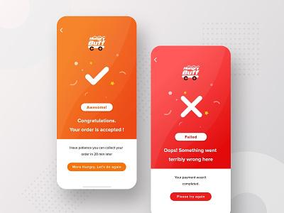 Order Successful & Rejected UI rejection opps confetti confirm successful success rejected failed logo product details product designer app ui ui ux design ux ui design ui