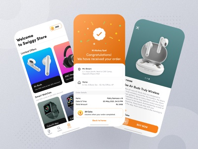 Store Feature - Swiggy cancel success offer ecommerce store online order coin earning food app order ux app ui designer ui ux design ui design swiggy branding ui