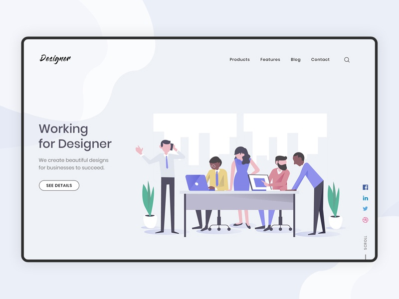 Workplace For Designer By Akshay Syal On Dribbble
