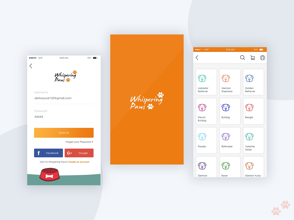 Whispering Paws by Akshay Syal on Dribbble
