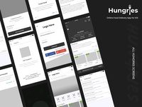 Hungries Wireframe UI Kit