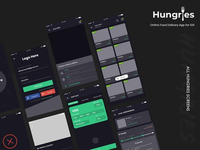 Hungries Wireframe UI Kit