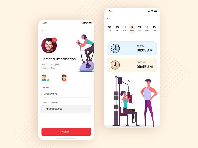 Gym Fitness UI