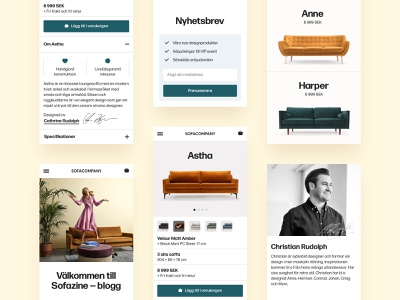 Sofa Company — Redesign Concept minimalist clean mobile sofa design furniture typography ux ui app
