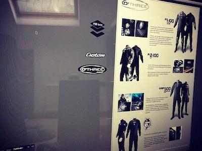 Drysuit POS Panel drysuit point of sale poster