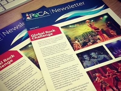 Newsletter newsletter print design school