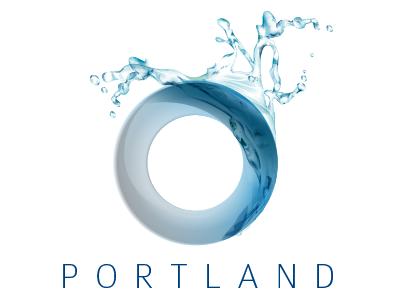 Portland Group vector water logo circle