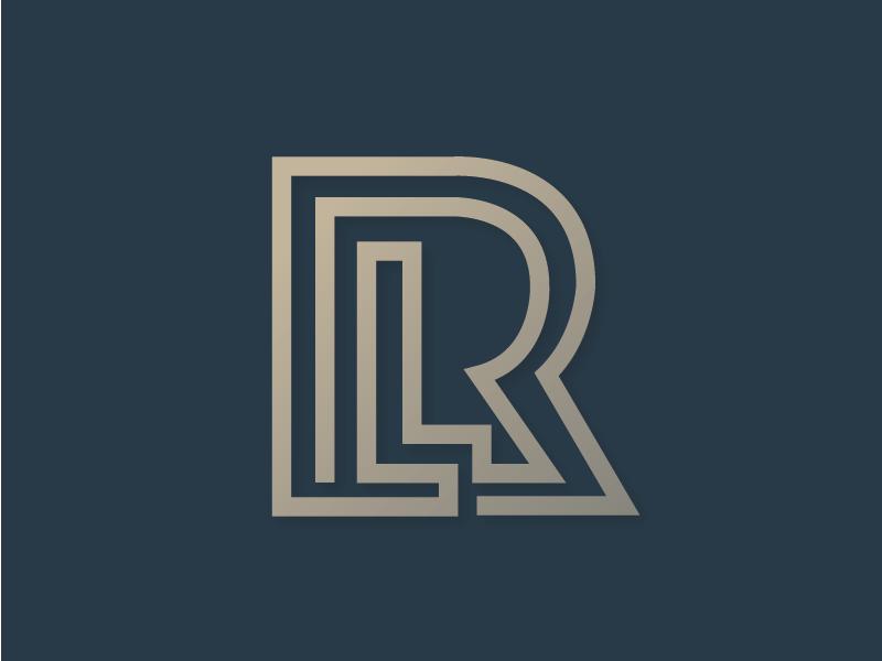 RL Logo logo design typography identity logo icon branding