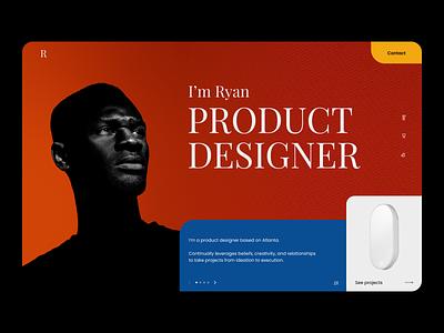 Mondrian Portfolio minimal layout ui colorful portfolio mondrianism web