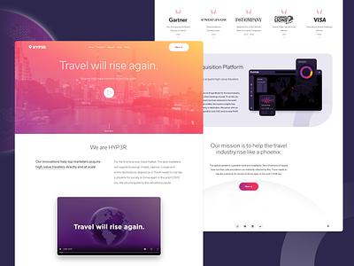 Hyp3r marketing clean minimal colorful web landing ui layout
