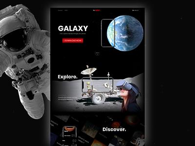 Galaxy by NASA - Web Concept galaxy space dark astronaut nasa concept web clean art direction ui layout landing