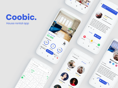 House rental app for Android material design 2 roboto clean interaction case study ux ui design roommate departments home house screens app concept android app