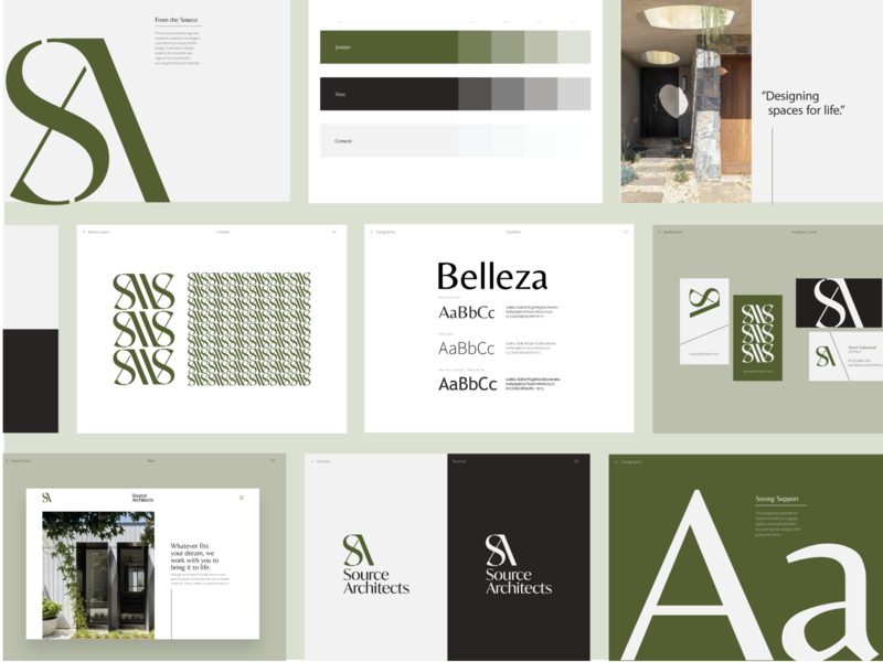 Source Architect - Brand Style Guide design branding design australia architecture architects nevada reno style guide custom lettering icon logo graphic design branding brand identity