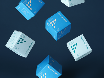Full Spectrum Hemp Packaging boxes geometric tincture health hemp denver cbd packaging typography design logo laxalt brooklyn branding reno nevada