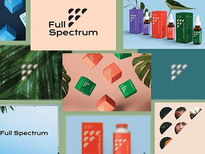 Full Spectrum Hemp Concept Lookbook tincture boxes geometic cbd identity packaging health hemp denver typography design logo laxalt brooklyn branding reno nevada